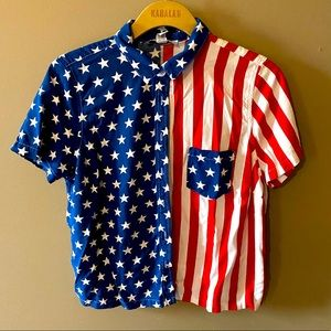 Forever 21 American flag button down